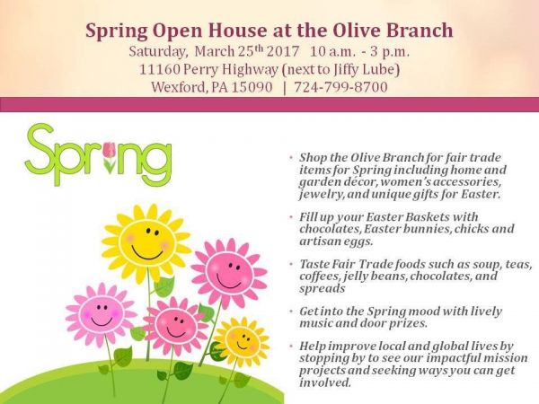 Mar 25 Olive Branch Fair Trade Store Spring Open House Pine Richland Pa Patch