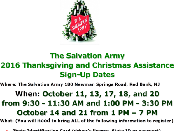 Oct 11 | 2016 Thanksgiving and Christmas Assistance Sign-Ups at ...