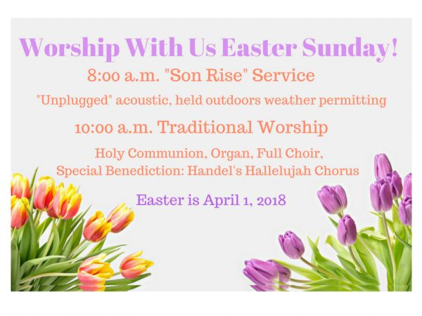 Apr 1 easter sonrise service at first presbyterian church easter sonrise service at first presbyterian church m4hsunfo Images