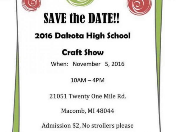 nov 5 21st annual dakota high school craft show macomb