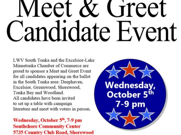Oct 5 South Tonka Candidate Meet And Greet Event Lake