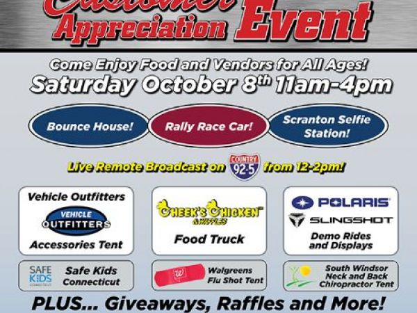 Oct 8 scranton motors customer appreciation day vernon for Scranton motors vernon connecticut