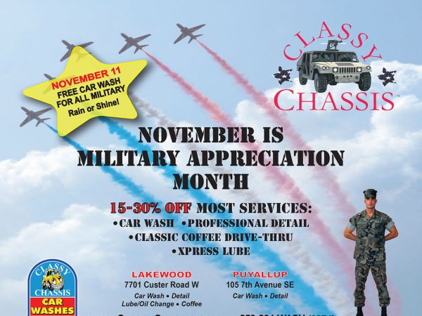 Nov 11 classy chassis offering free car washes for all military classy chassis offering free car washes for all military solutioingenieria Choice Image