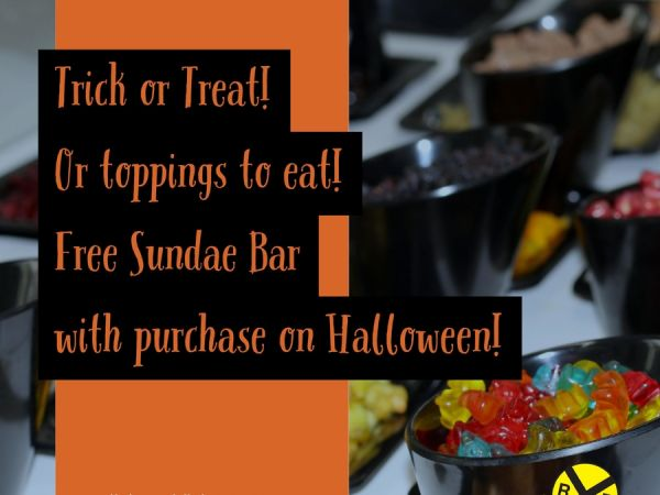 FREE Halloween Sundae Bar At All Aboard Family Dining