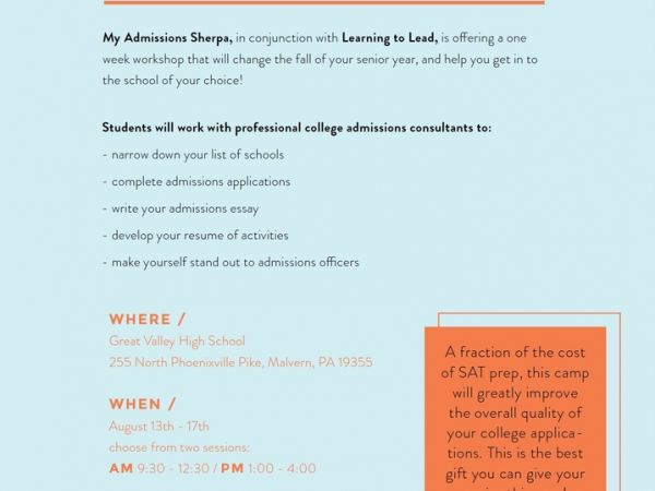 aug 15 college application and essay boot camp tredyffrin