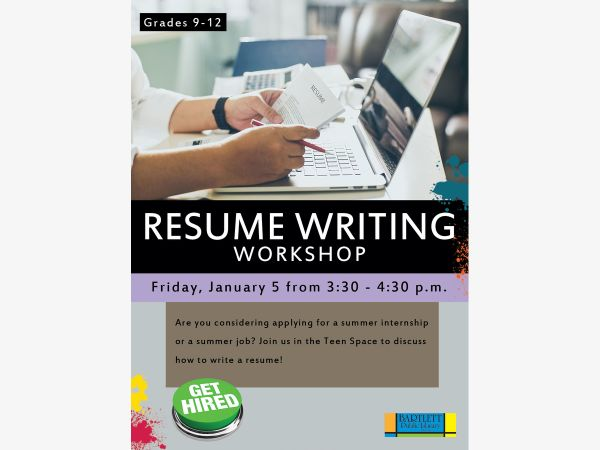 jan 5 resume writing workshop elgin il patch