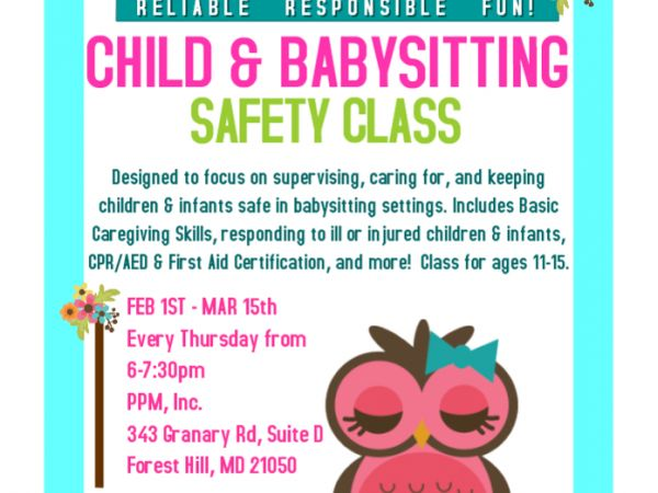 Mar 15 | Child & Baby-Sitting Safety Class | Bel Air, MD Patch