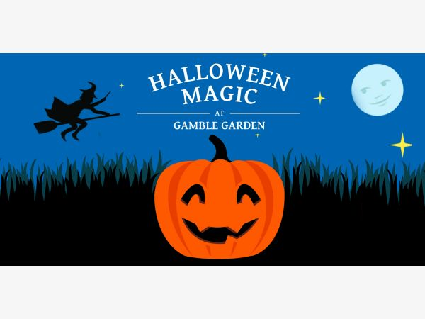 halloween magic at gamble garden