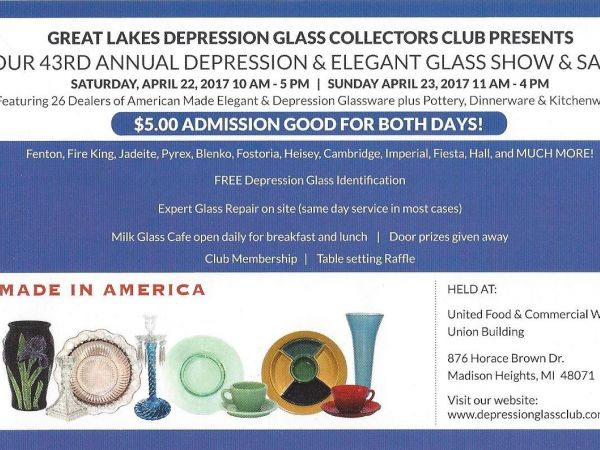 43 rd annual depression elegant glass show rochester - Rochester home and garden show 2017 ...