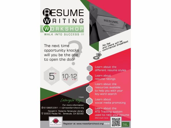 aug 5 resume writing workshop temecula ca patch