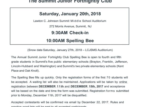 Jan 20 the summit junior fortnightly club 4th 5th grade spelling the summit junior fortnightly club 4th 5th grade spelling bee thecheapjerseys Gallery