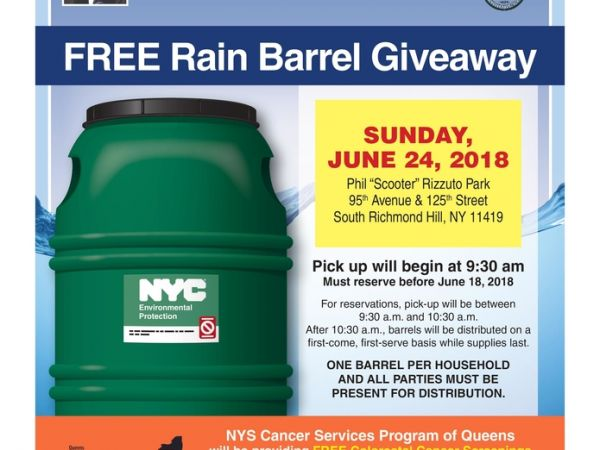 Free Rain Barrel Giveaway & Cancer Screening