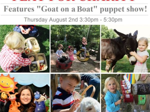 aug 2 play for charity featuring goat on a boat puppet show