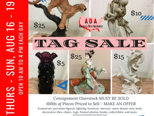 Aug 19 Clearance 4 Day Tage Sale Furniture Porcelain Vases