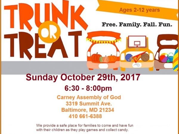 Trunk Or Treat You And Your Children Are Invited To A Free Family