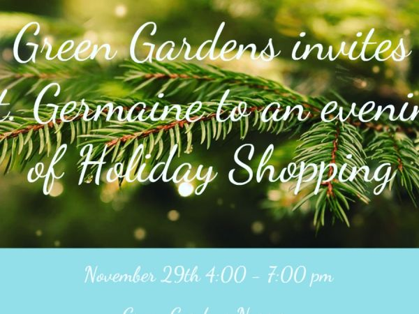 Holiday Shopping For Charity At Green Gardenu0027s Nursery
