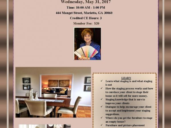 May 31 | Jan Britt has decorating tips you will need for STAGING ...