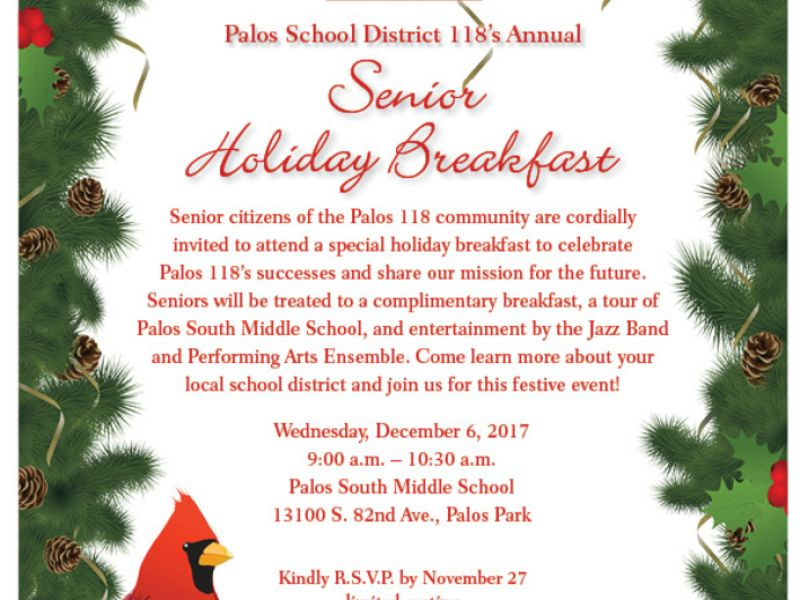 Dec 6 | Palos 118 Annual Senior Citizen Holiday Breakfast | Palos ...