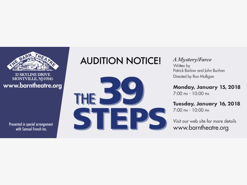 Auditions for 39 Steps at the Barn Theatre | Parsippany, NJ
