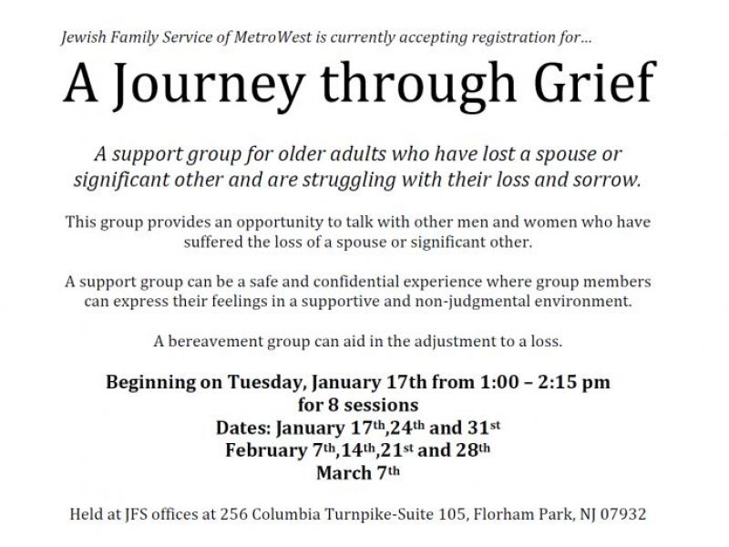 Support Group Journey Through Grief Livingston NJ Patch
