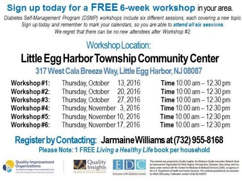 Oct 27 Take Control Of Your Diabetes Free Self Management Workshops Galloway Nj Patch