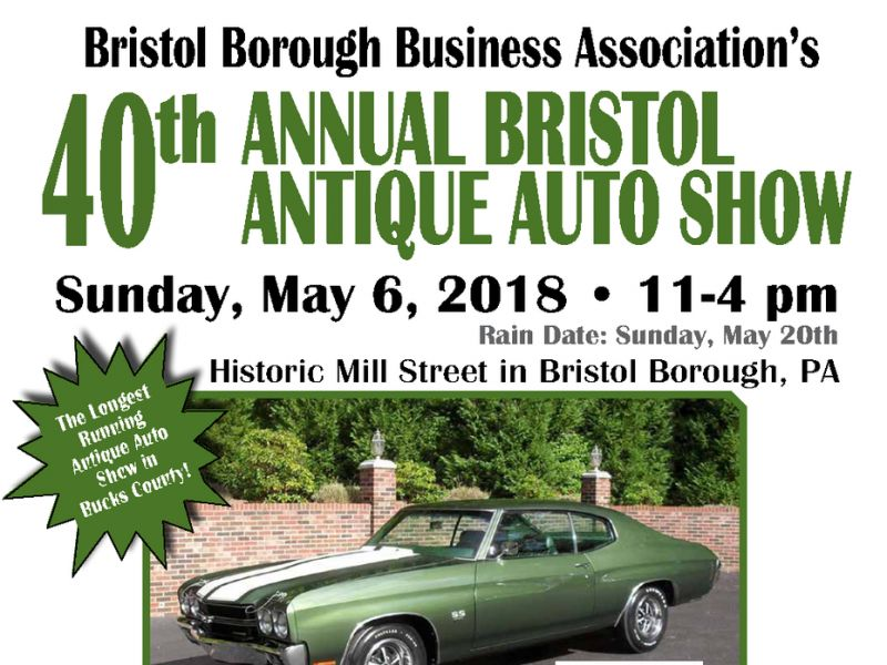 May 6 | 40th Annual Bristol Antique Auto Show | Levittown, PA Patch