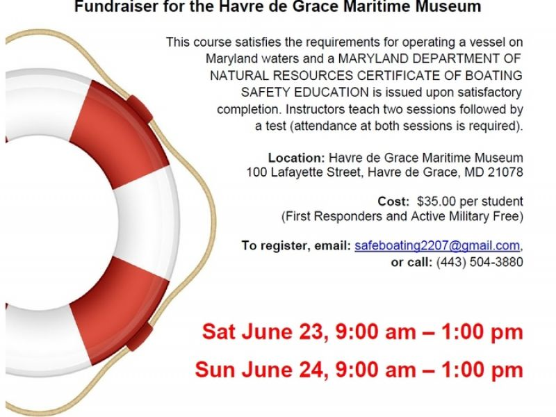 Jun 24 Maryland Boating Safety Course Havre De Grace Md Patch