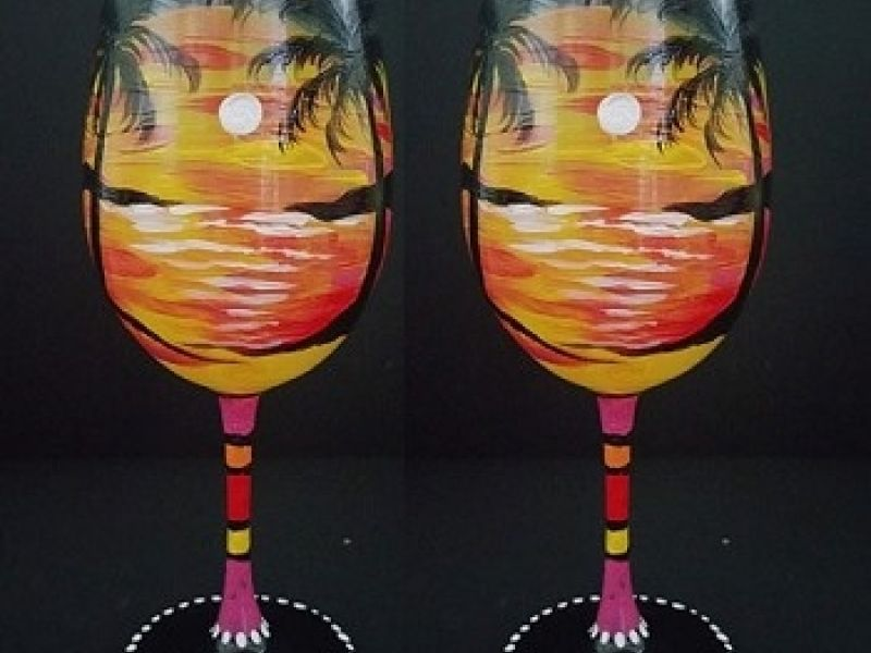 Jersey shore paint party byob wine glass painting party for Wine paint party