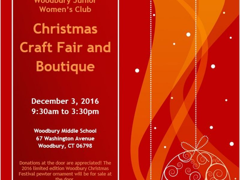 dec 3 woodbury junior women 39 s club christmas craft fair On craft fairs in ct december