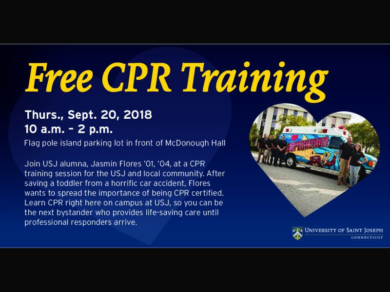 Sep 20 Free Cpr Training At Usj West Hartford Ct Patch