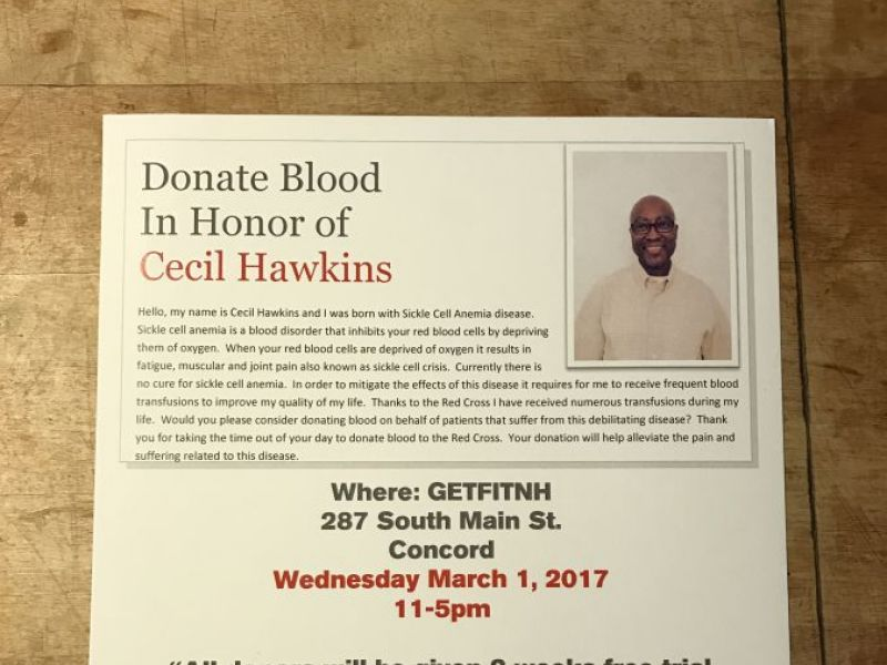 Mar 1 | Donate Blood in Honor of Cecil Hawkins | Concord ...