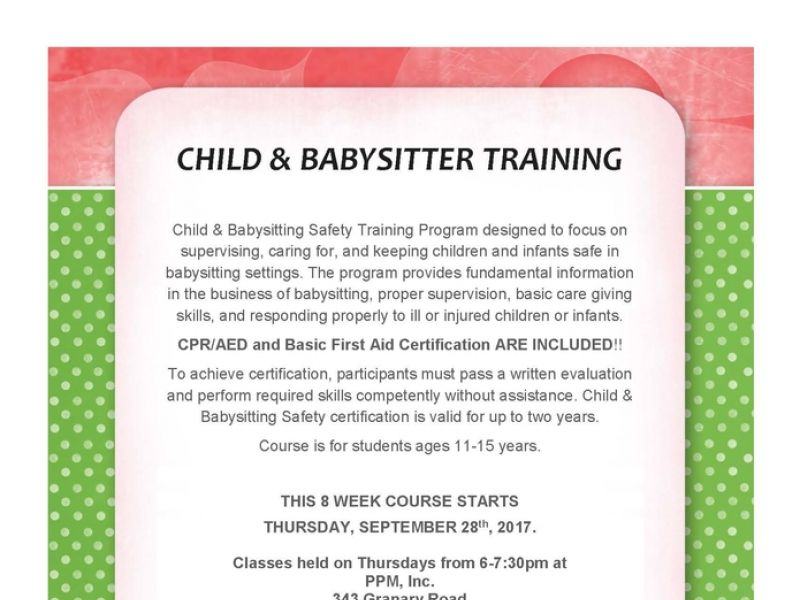 Sep 28 | Babysitter Certification Course | Bel Air, MD Patch