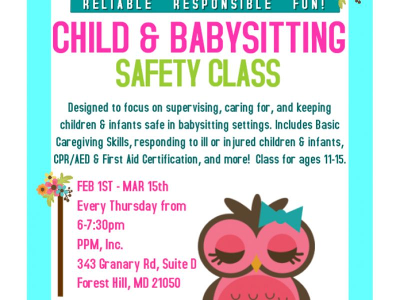 Mar 15 Child Baby Sitting Safety Class Bel Air Md Patch