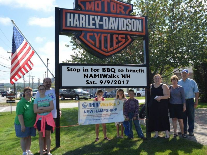 heritage harley davidson community bbq to support namiwalks nh