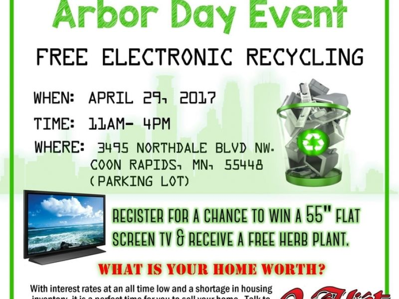 Arbor Day Event Free Electronic Recycling Oakdale Mn Patch