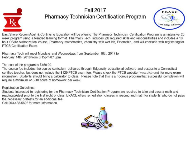 Oct 13 Pharmacy Technician Certification Program Branford Ct Patch