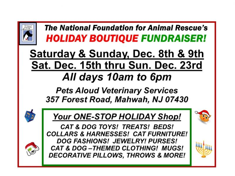 NFFAR's HOLIDAY BOUTIQUE FUNDRAISER!