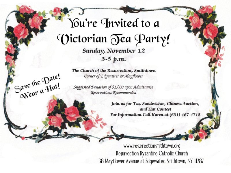 Nov 12 | Victorian Tea Party | Smithtown, NY Patch