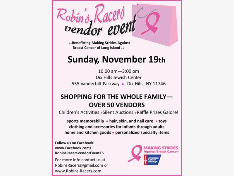 Nov 19 | Shop to end Breast Cancer! | Half Hollow Hills, NY Patch