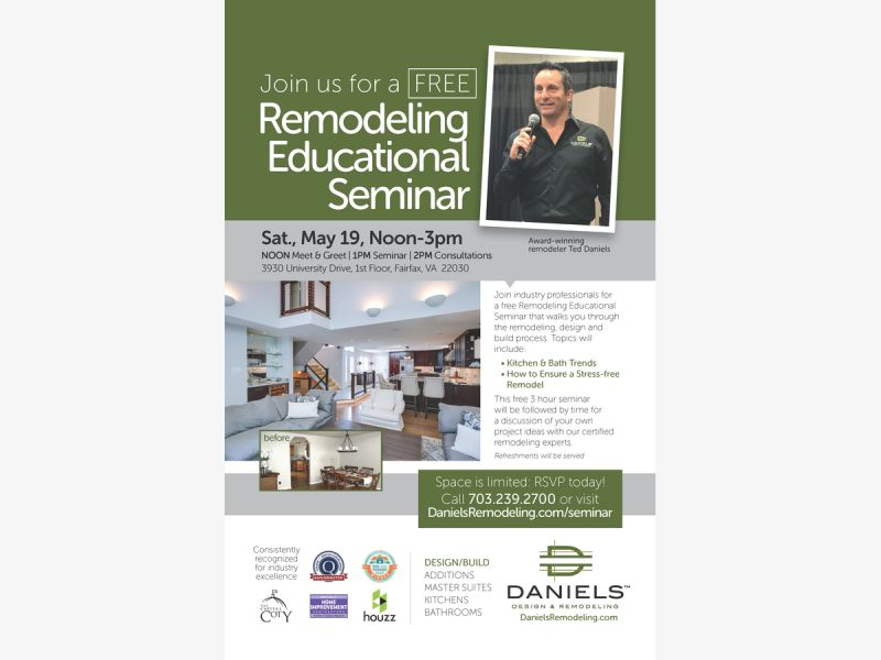 May 19   Remodeling Educational Seminar in Fairfax City on 5/19/18 ...