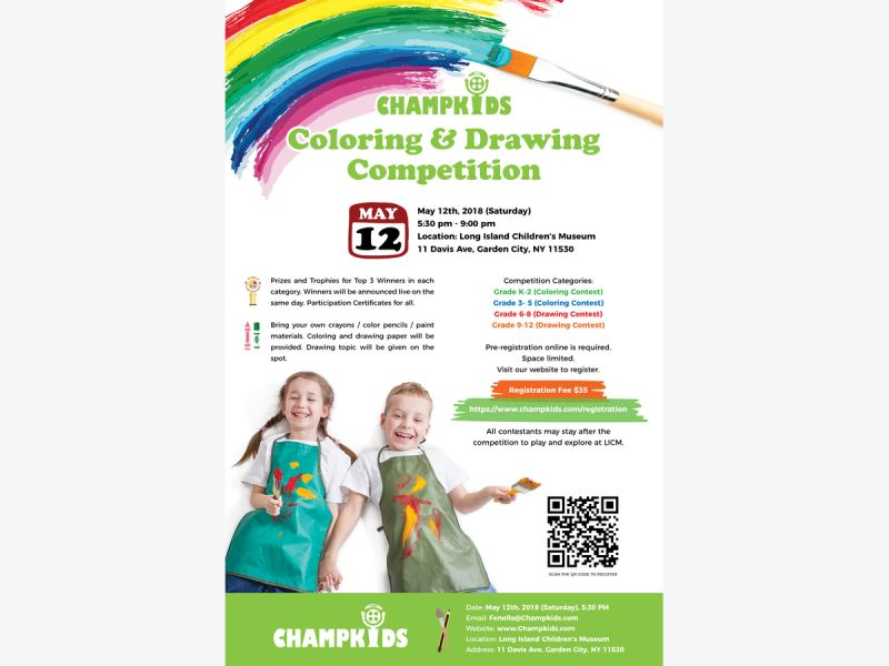 May 12 | Coloring & Drawing Competition for Kids | Great Neck, NY Patch