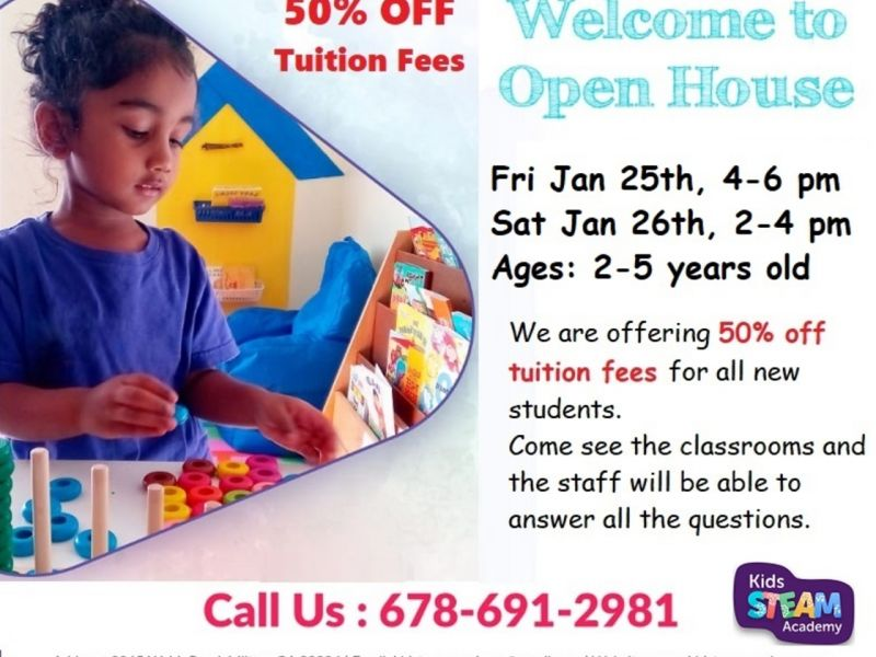 OPEN HOUSE - Kids STEAM Academy Preschool