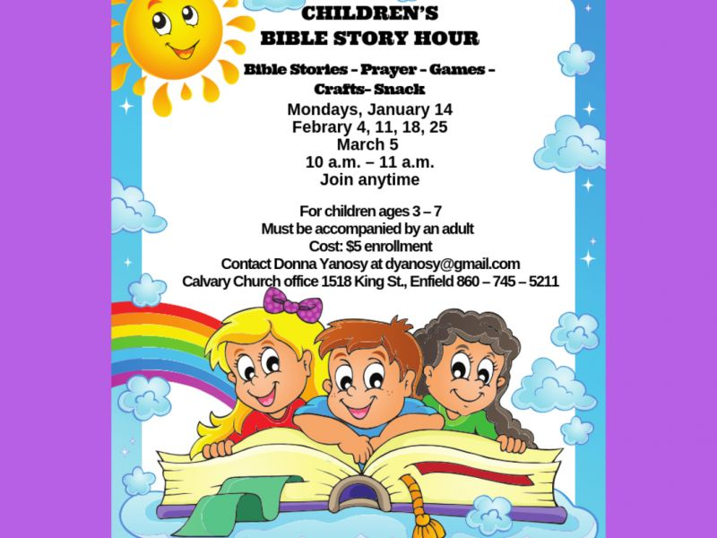 Jan 28 Children S Bible Story Hour Enfield Ct Patch