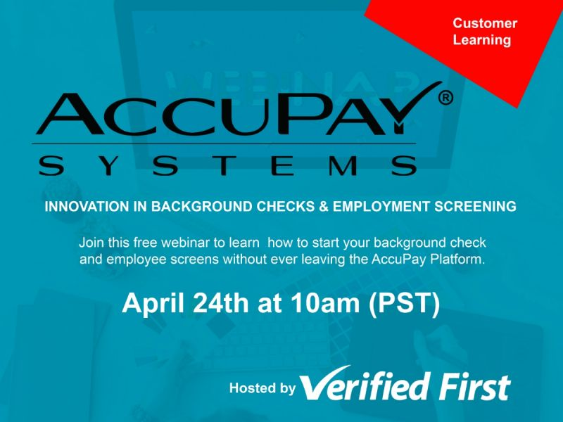 FREE Webinar on Background Checks with Payroll Services