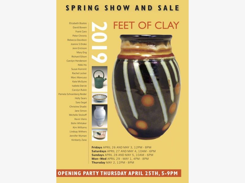 Feet of Clay Pottery Studio ~ 2019 Spring Show and Sale