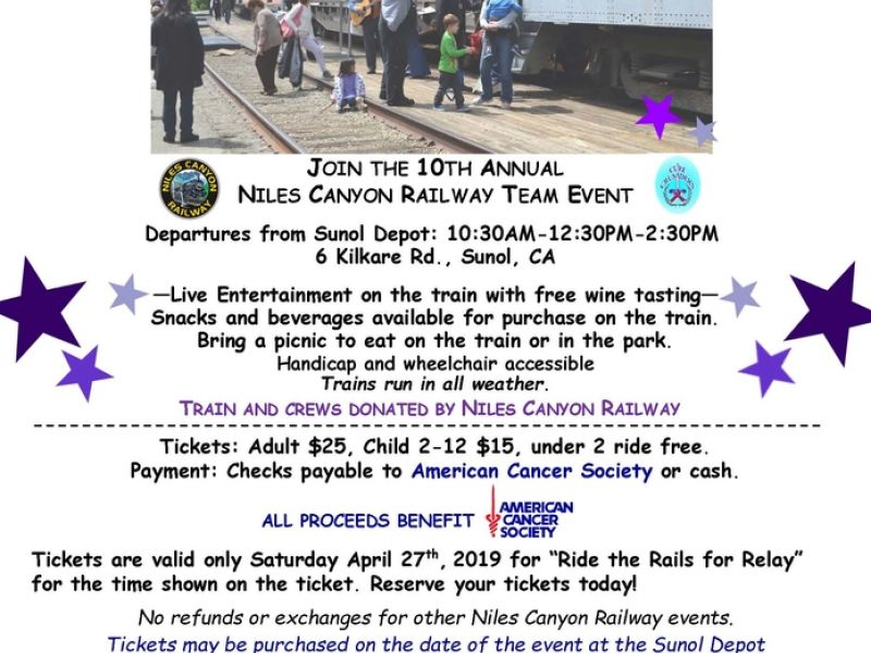 Ride The Rails For Relay2019