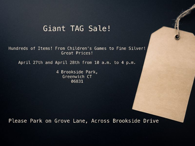 Giant Tag Sale