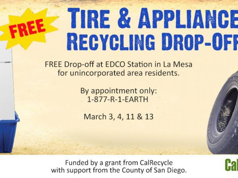 Mar 31 Free Recycling Drop Off For Tires And Appliances