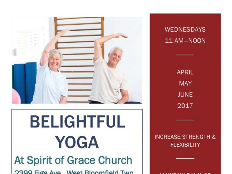 belightful yoga at spirit of grace church west bloomfield mi patch. Black Bedroom Furniture Sets. Home Design Ideas