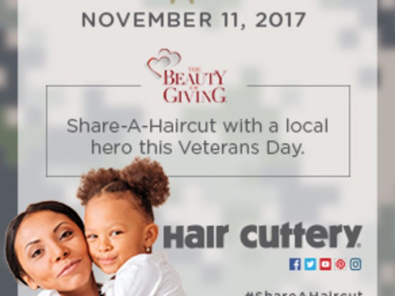 Nov 11 Hair Cutterys Veterans Day Share A Haircut Nov 11
